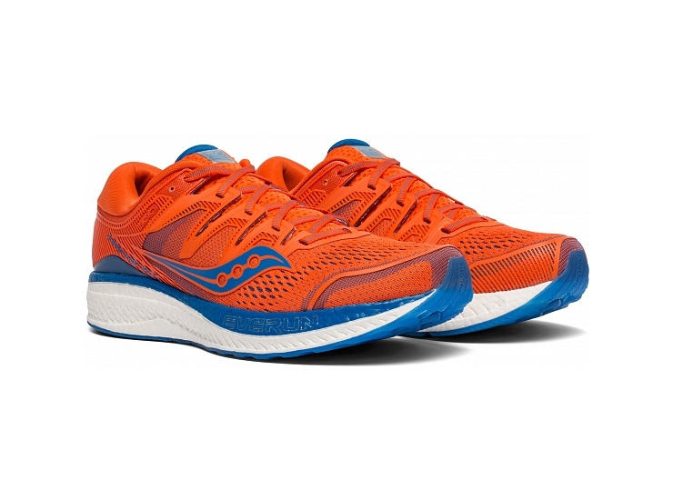 Кроссовки Saucony HURRICANE ISO 5 Orange/Blue (2019) фото 1
