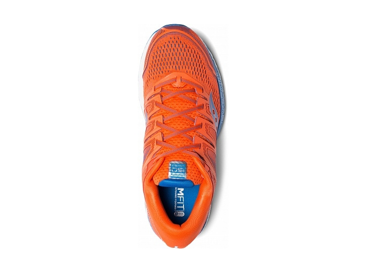 Кроссовки Saucony HURRICANE ISO 5 Orange/Blue (2019) фото 3