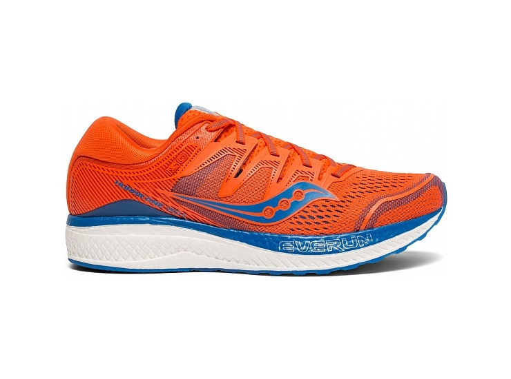 Кроссовки Saucony HURRICANE ISO 5 Orange/Blue (2019) фото 4