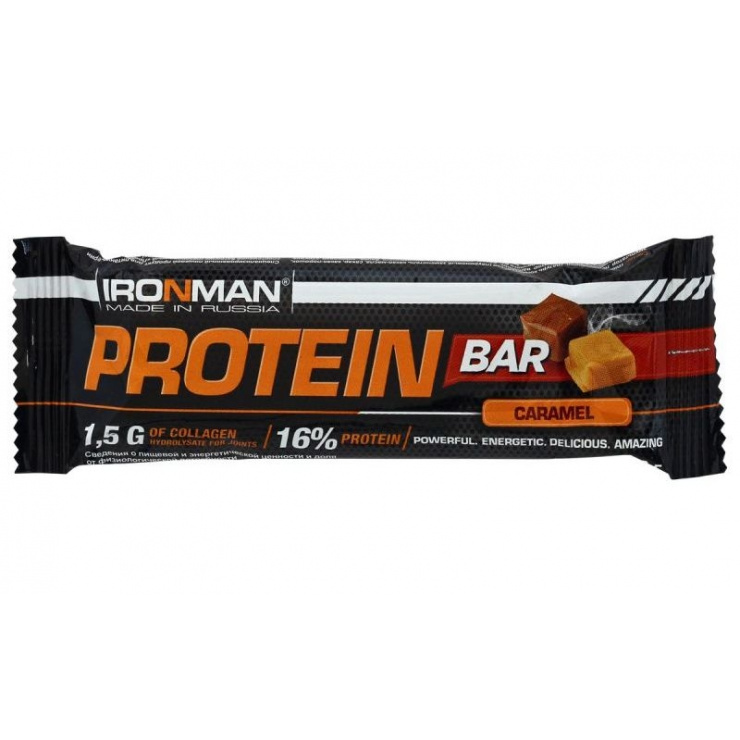 Батончик IRONMAN Protein Bar с колллагеном 35гр. фото 1