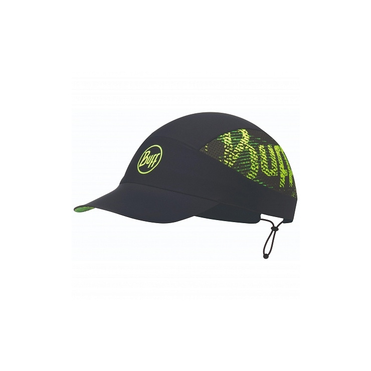Кепка BUFF Pack Run Cap Patterned R-Flash Logo Black (US:one size) фото 1
