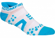 Носки COMPRESSPORT V2 RUN LO бело-синие