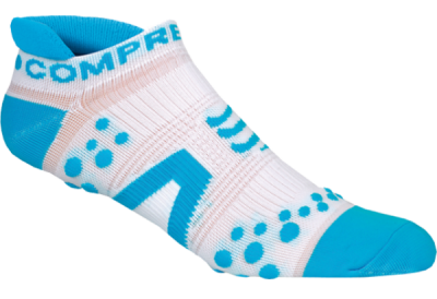 Носки COMPRESSPORT V2 RUN LO бело-синие фото 20191