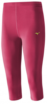 Капри MIZUNO Core 3/4 Tights малиновые фото 19650