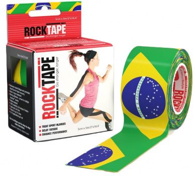 Кинезиотейп ROCKTAPE Design 5смх5м  фото 21179