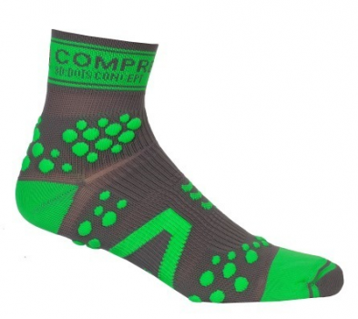 Носки COMPRESSPORT TRAIL HI V2 серо-зеленые фото 20205