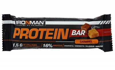 Батончик IRONMAN Protein Bar с колллагеном 35гр. фото 27799
