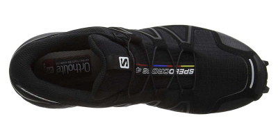 Кроссовки SALOMON SPEEDCROSS 4 WIDE Bk/Bk/BLACK фото 37756