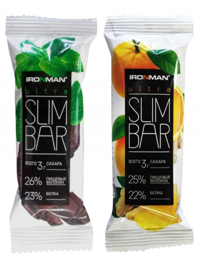Батончик IRONMAN Ultra Slim Bar 40гр. фото 31054
