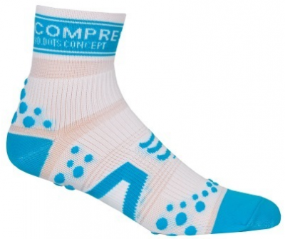 Носки COMPRESSPORT V2 RUN HI бело-синие фото 18762